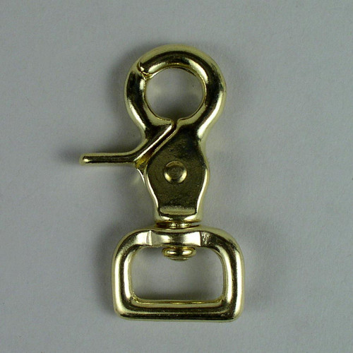 "3/4"" Scissor Snap Square Solid Brass"