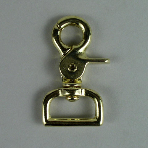 "1"" Scissor Snap Square Solid Brass"