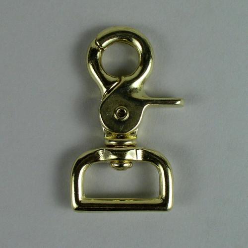 "1"" Scissor Snap Square Solid Brass"
