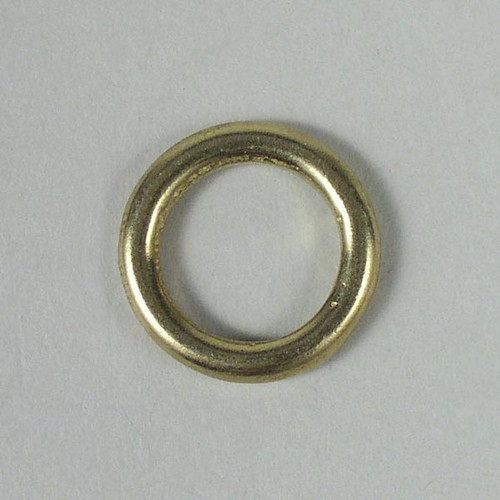 Solid cast brass O ring inside diameter is 1/2 inch.