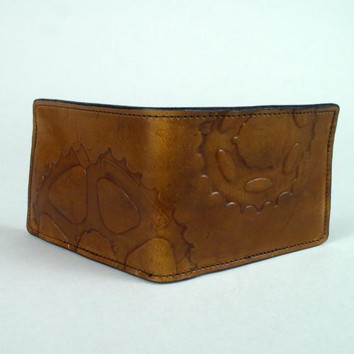 Steampunk Cog Leather Wallet