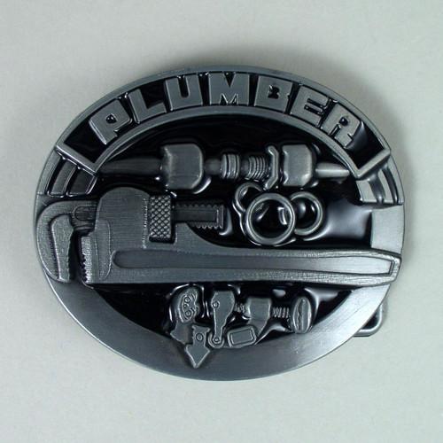 Plumber Belt Buckle (C) Fits 1 1/2 Inch Wide Belt.