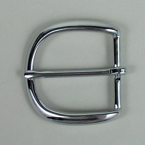 1 1/2 Inch Chrome Polished Solid Brass Belt Buckle - E18