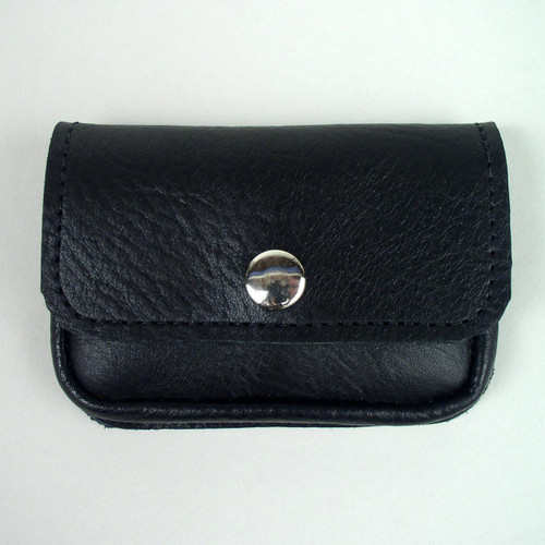 Black soft leather card holder.
