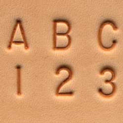 1/4 inch alphabet stamp set and number stamp set combined to use for hand imprinting your tooling leather.