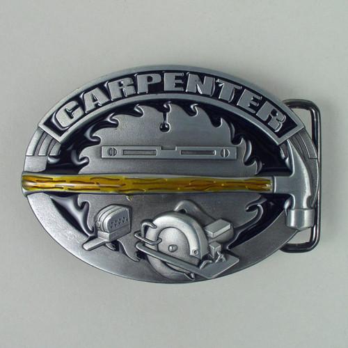 Carpenter Belt Buckle (E) Fits 1 1/2 Inch Wide Belt.