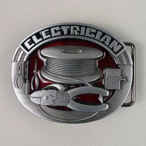 Electrician Belt Buckle (D) Fits 1 1/2 Inch Wide Belt.
