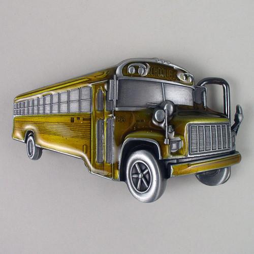 School Bus Belt Buckle Fits 1 1/2 Inch Wide Belt.