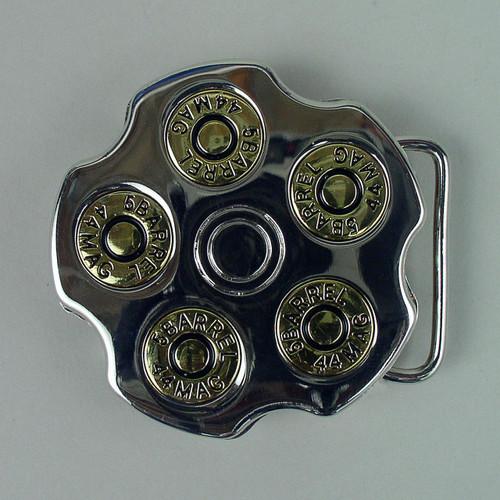 Spinning Shotgun Shell Belt Buckle Fits 1 1/2 Inch Wide Belt.