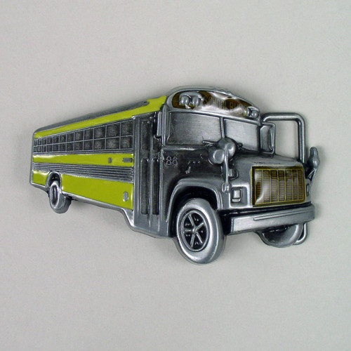 School Bus Belt Buckle (B) Fits 1 1/2 inch wide belt.