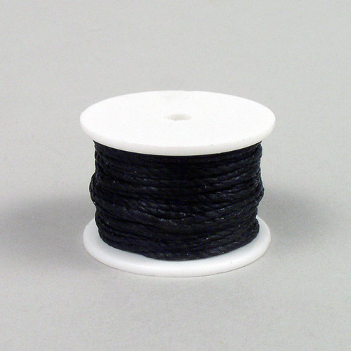 Black sewing awl thread reel for sewing awls  that hold a thread reel or for hand sewing with harness needles.