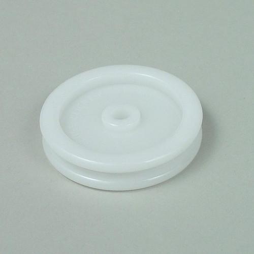 Nylon edge slicker used to smooth leather edges.