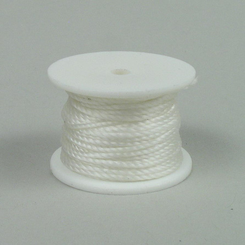 White sewing awl thread reel for sewing awls  that hold a thread reel or for hand sewing with harness needles.