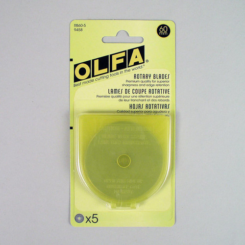 Rotary blades by OLFA® are of premium quality for superior sharpness and edge retention.