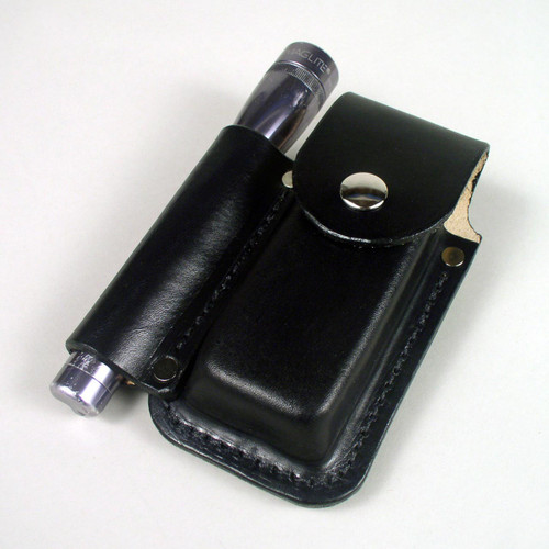 Custom leather case made for your maglite and muti-tool.