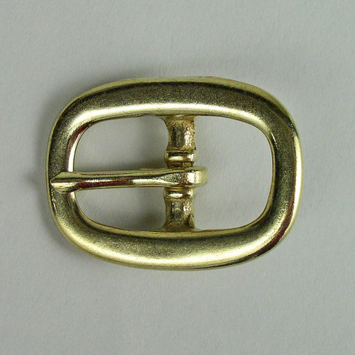 Solid brass halter buckle inside diameter is 3/4 inch.