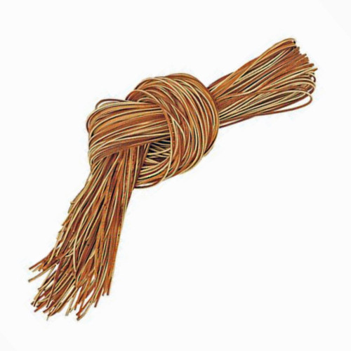 Chestnut alum tanned leather laces, leather deck shoe laces and moccasin leather laces.