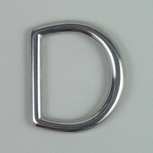 Stainless steel heavy duty D ring inside diameter is 1 1/4 inch.