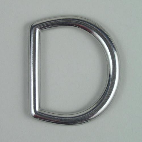Stainless steel heavy duty D ring inside diameter is 1 1/2 inch.