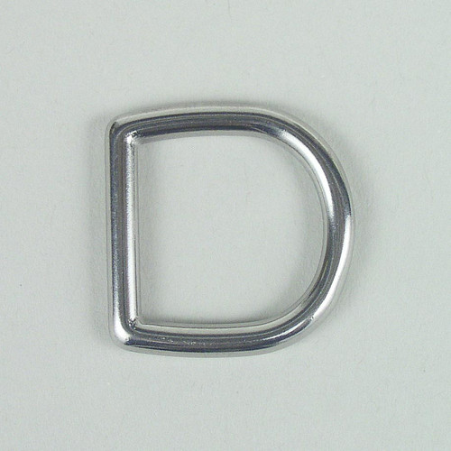 Stainless steel D ring hardware inside diameter is 3/4 inch.