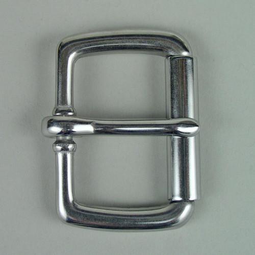 Stainless steel roller buckle inside diameter is 1 1/2 inch.