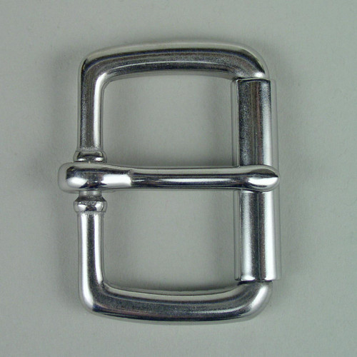 Stainless steel roller buckle inside diameter is 1 1/2 inch.