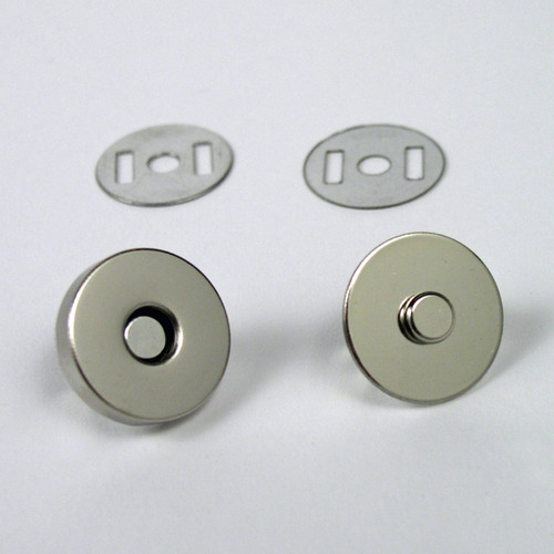3/4 inch diameter magnetic bag clasp nickel.