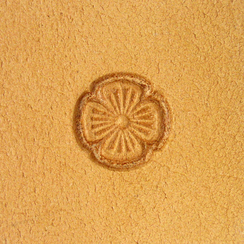W 531 leather stamp tool makes a flower imprint.