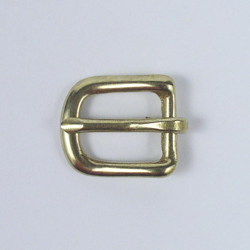 The inside diameter of this solid brass heel bar buckle is 1/2 inch.