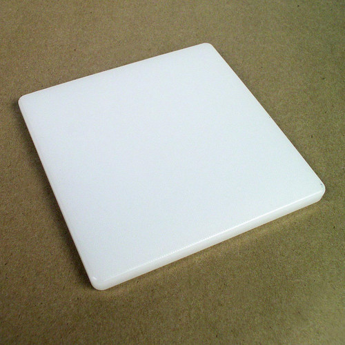 High quality poly cutting board, 6 inch by 6 inch impact absorbing surface for underneath your leather while cutting or punching.