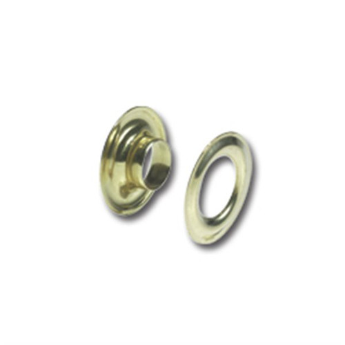 Gold Solid Brass Grommets (#0) 1/4""