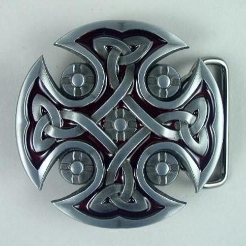 Celtic Cross Belt Buckle Fits 1 1/2 Inch Wide Belt.