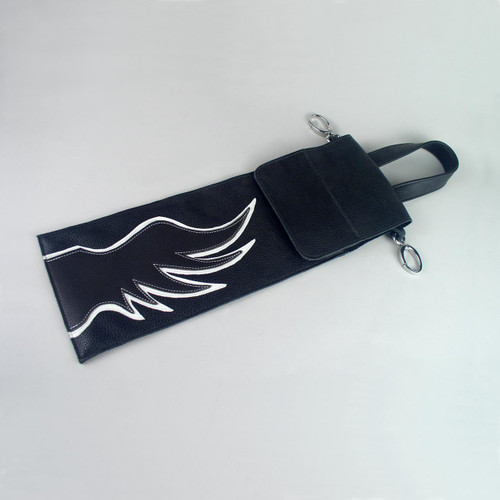 Small Overlay Leather Drumstick Bag