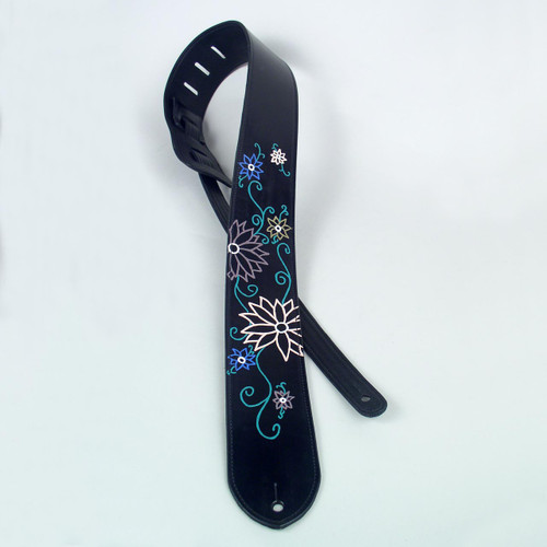Flowers Acoustic Electric Guitar Strap