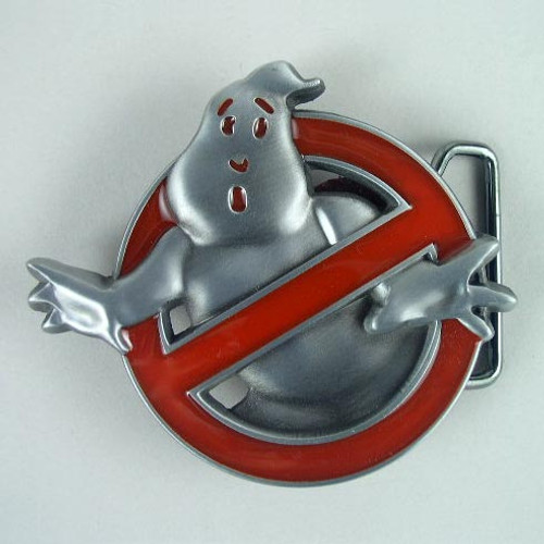 Ghostbuster Belt Buckle Fits 1 1/2 Inch Wide Belt.