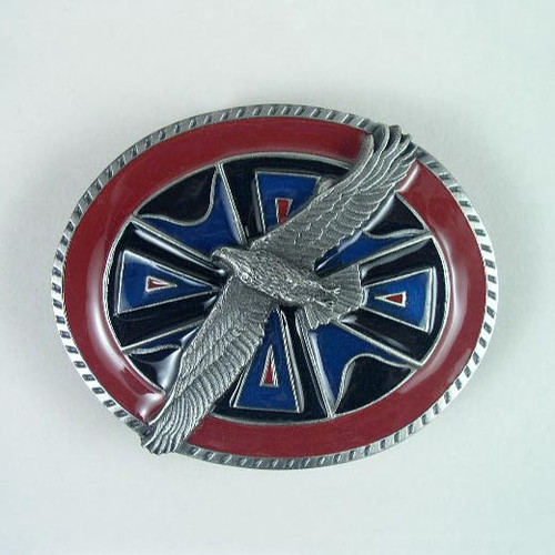 Lone Eagle Belt Buckle Fits 1 1/2 Inch Wide Belt.