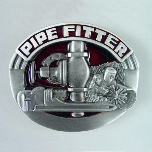 Pipe Fitter Belt Buckle Fits 1 1/2 Inch Wide Belt.