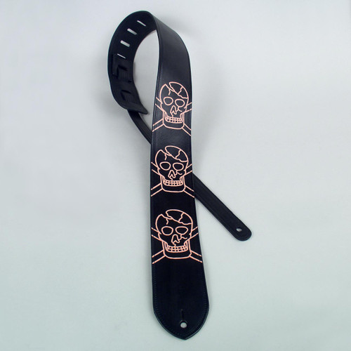 Skull Acoustic Electric Guitar Strap