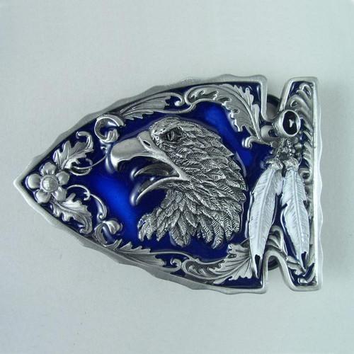 Eagle Arrowhead Belt Buckle (B) Fits 1 1/2 To 1 3/4 Inch Wide Belts.