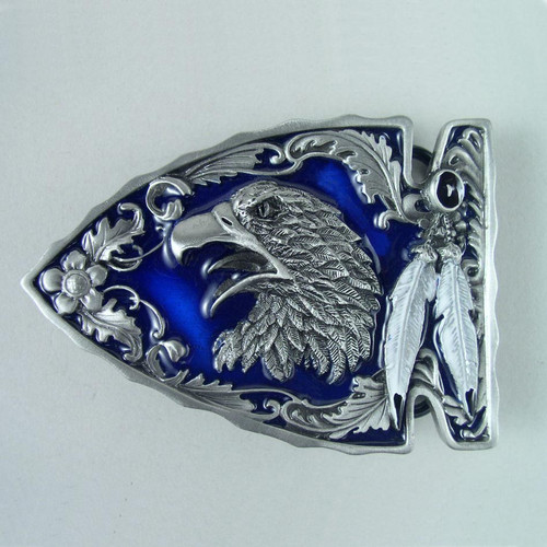 Eagle Arrowhead Belt Buckle (B) Fits 1 1/2 To 1 3/4 Inch Wide Belts.