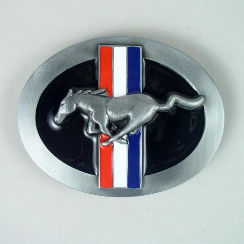 Ford Mustang Belt Buckle Fits 1 1/2 Inch Wide Belt.