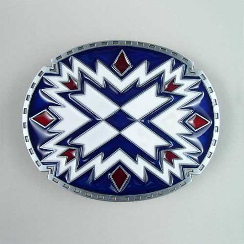 Native Art Belt Buckle (B) Fits 1 1/2 Inch Wide Belt.