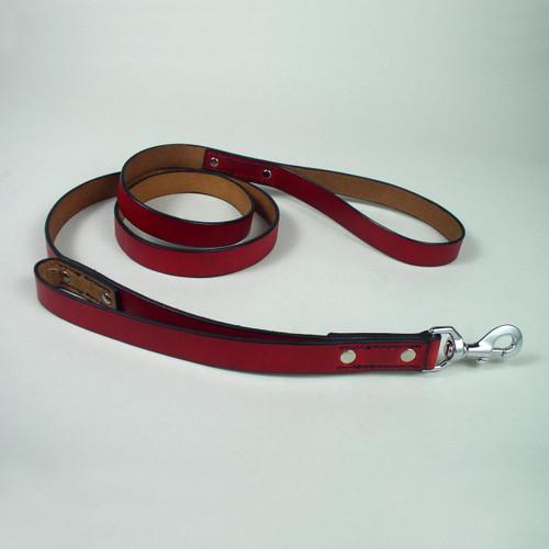 """Double Handle Leather Leash 3/4"""""""