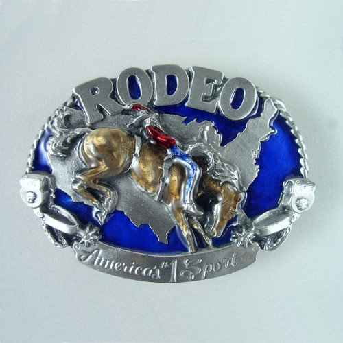 Rodeo Belt Buckle (B) Fits 1 1/2 Inch Wide Belt.
