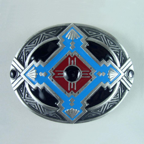 Southwestern Native Belt Buckle (A) Fits 1 1/2 Inch Wide Belt.