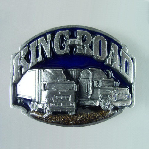Truck Driver Belt Buckle (A) Fits 1 1/2 Inch Wide Belt.