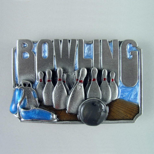 Bowling Belt Buckle Fits 1 1/2 Inch Wide Belt.