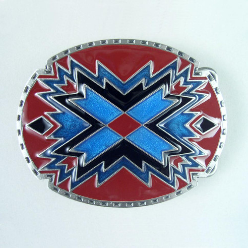 Southwestern Native Belt Buckle (B) Fits 1 1/2 Inch Wide Belt.