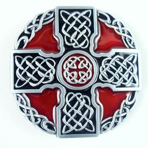Celtic Cross Belt Buckle (B) Fits 1 1/2 Inch Wide Belt.
