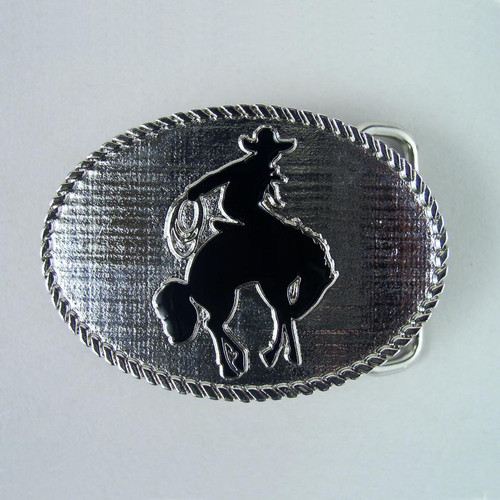 Small Rodeo Belt Buckle Fits 1 1/4 Inch Wide Belt.